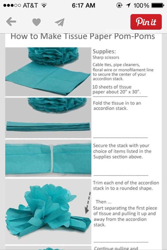 How To Make Tissue Paper Pom Poms Trusper