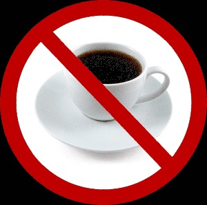 Try not to drink to much coffe