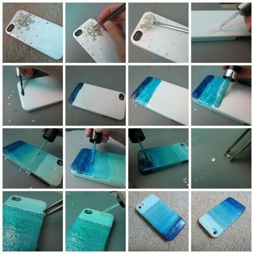 Marble Nail Polish Phone Case: Use Nail Polish To Make Your Own Phone Case