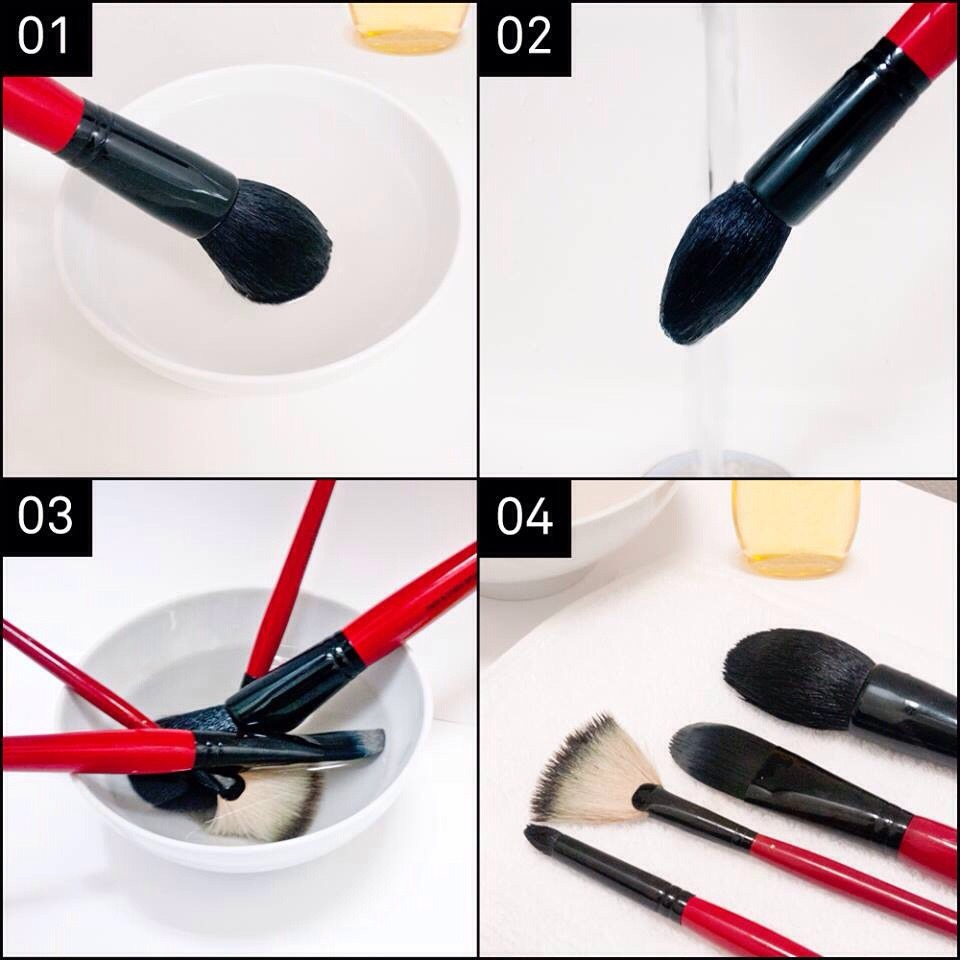 how to clean makeup brushes with shampoo