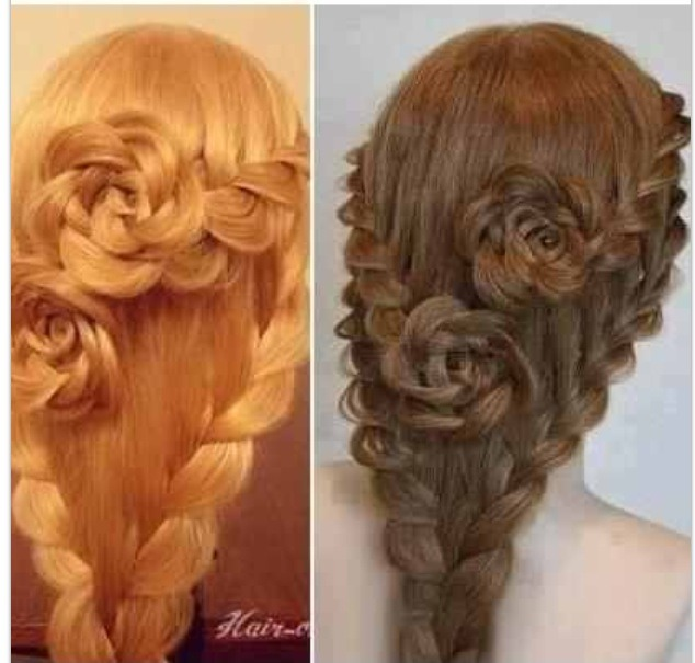 how to make a rose braid