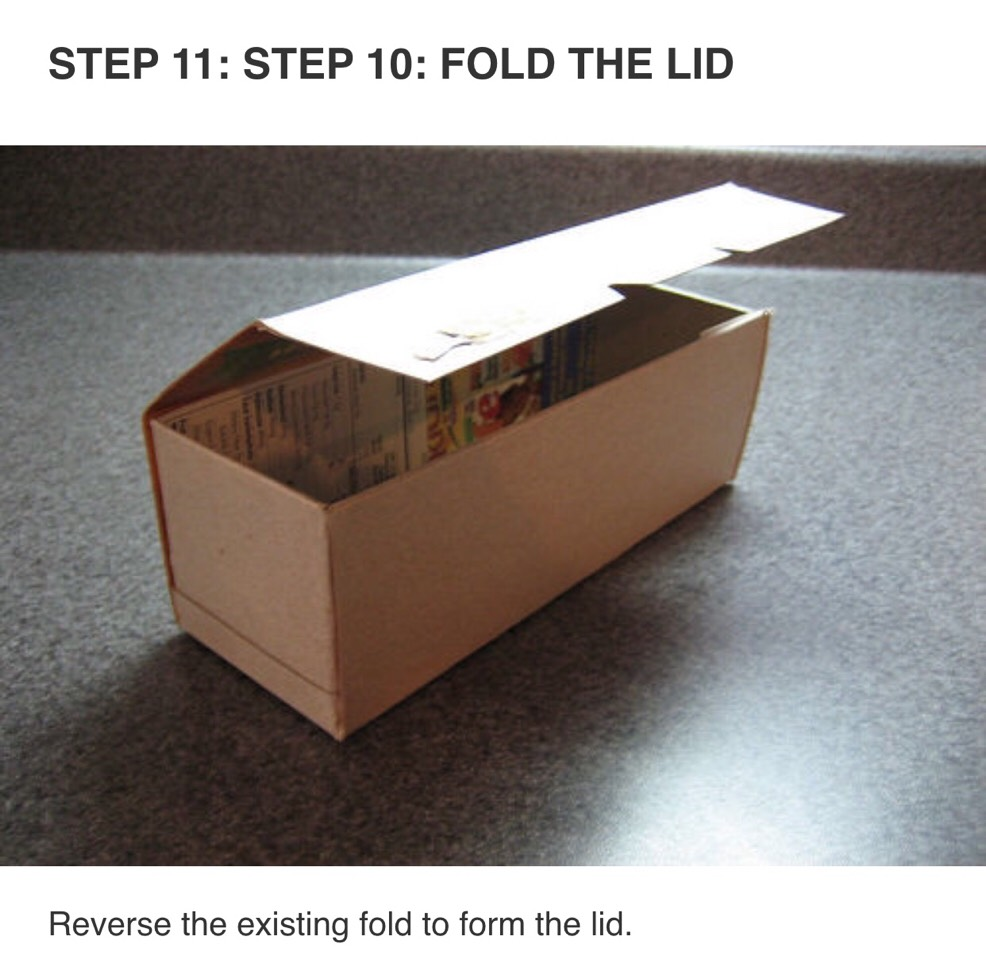How to make a box out of a cereal box tipit trusper for What to make out of cereal boxes