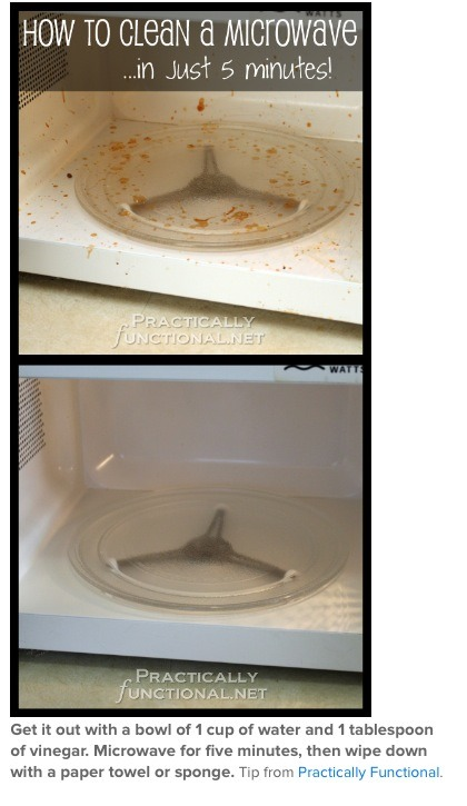 How To Clean Your Microwave In 5 Minutes!
