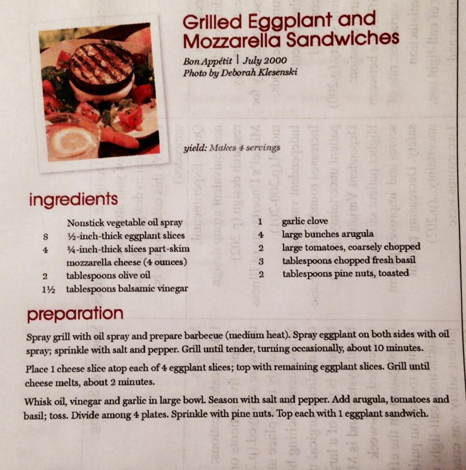 Grilled Eggplant And Mozzarella Sandwiches | Trusper