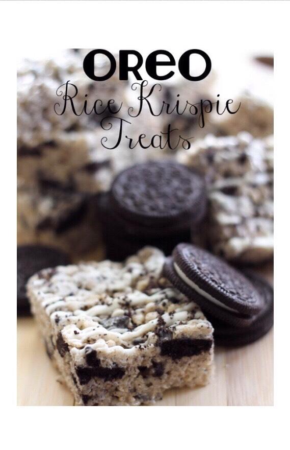 Oreo Rice Krispie Treats.