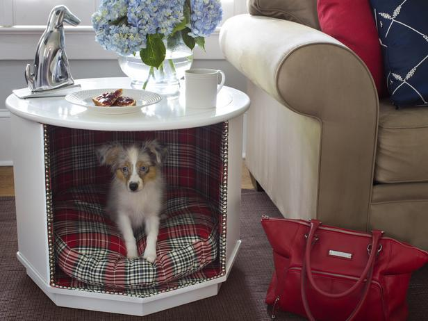 HOW TO MAKE A COMBINATION PET BED AND END TABLE