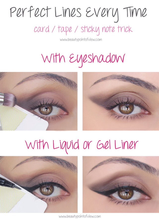 Eyeshadow/Liquid Eyeliner Trick