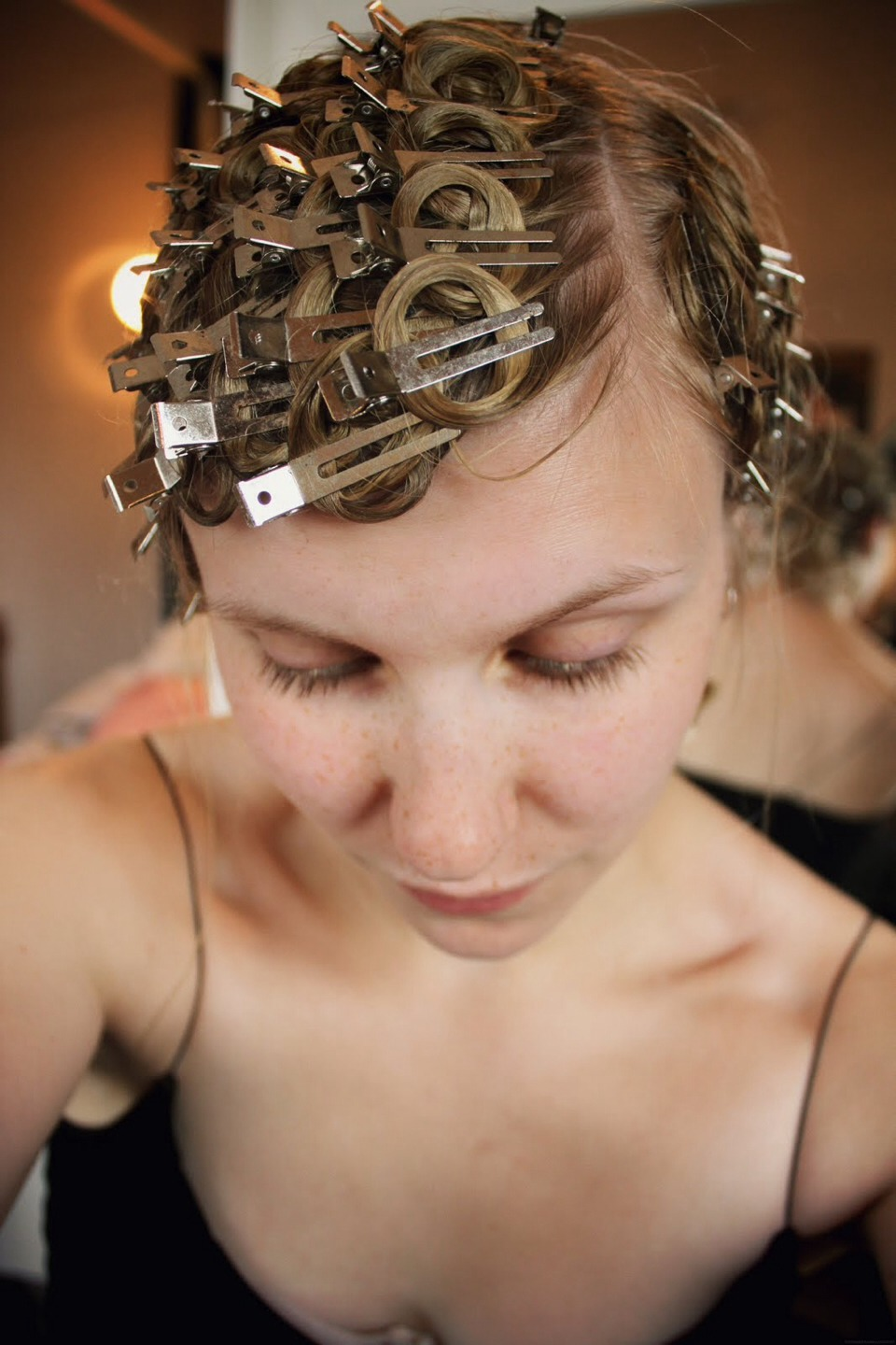 Pin Curl Your Hair For Curls The Next Morning! Wrap Your Hair Into A