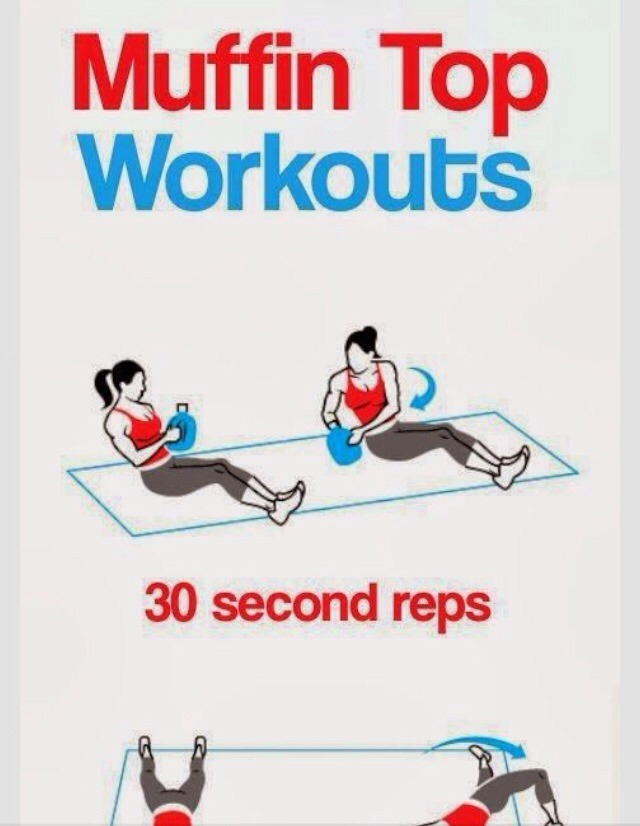 👍❤️Get Rid Of That Muffin Top With These Exercises❤️👍