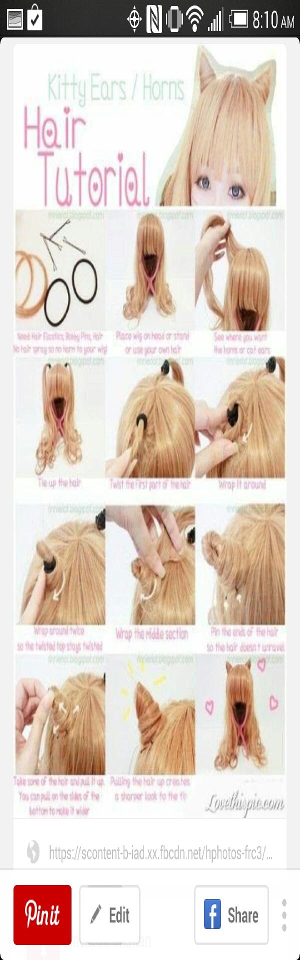 Diy Japanese Kitty Ears Hair