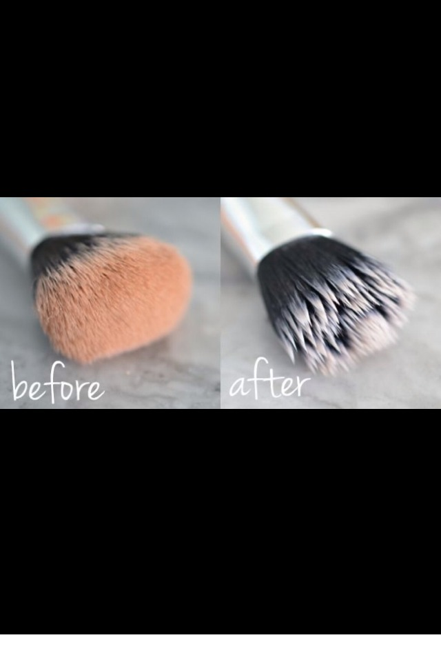 buzzfeed how to clean makeup brushes