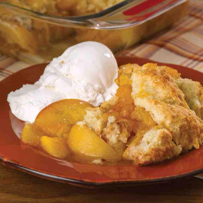 Easiest Peach Cobbler With Cake Mix