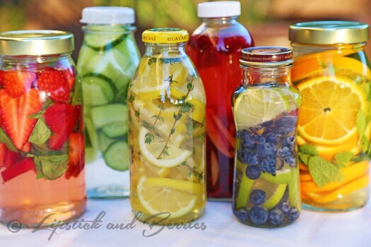 Several Detox Water Recipes #springforward