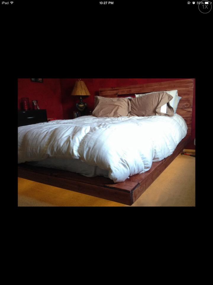 Diy flooding bed frame super cool trusper - Cool diy bed frames ...