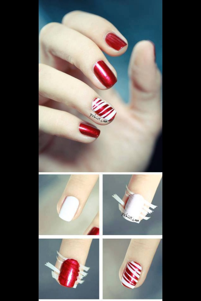 Easy Tape Nail Art .