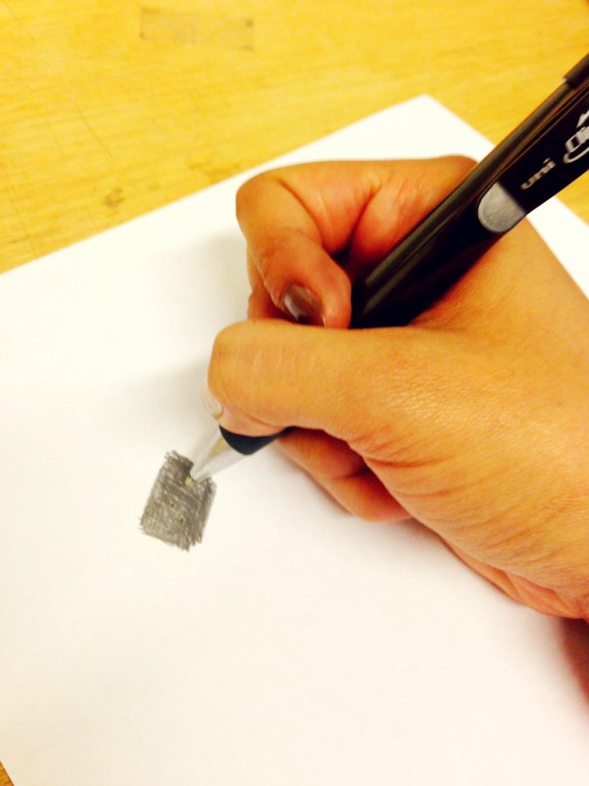 how to take fingerprints with pencil