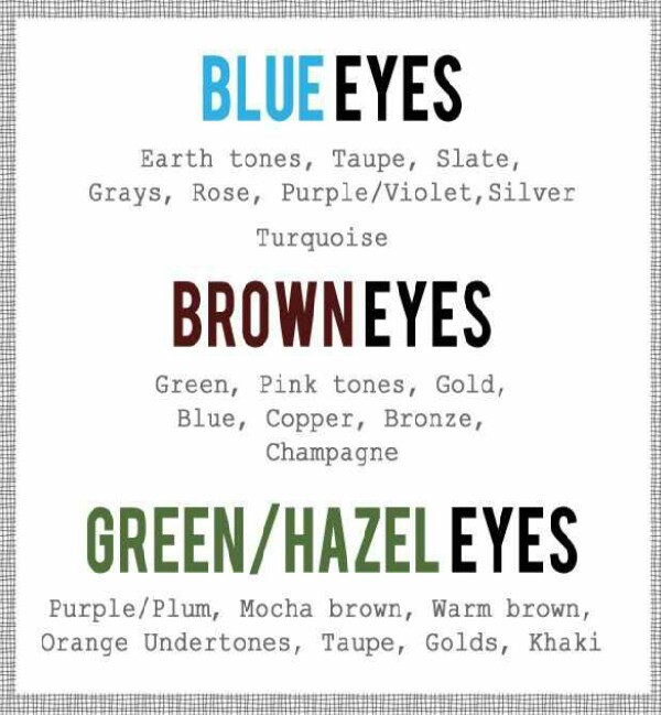 The Eyeshadows That Go Best With Your Eye color!