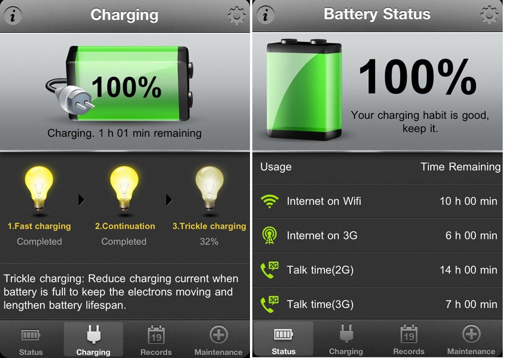 Use an app like Battery Doctor for iphone (free in the app store) for