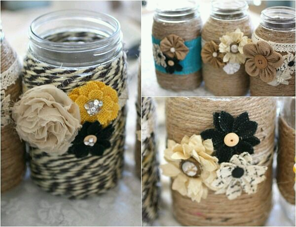 Mason Jar Decorating Ideas!  OMG so cute Idk how I'm going to choose! 🌟