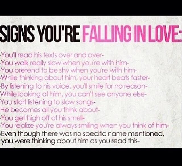 Signs Your Falling In love💞   Trusper