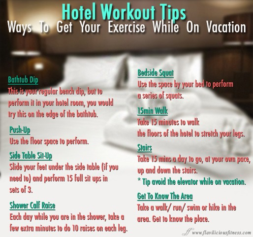 Hotel Workout Ways To Exercise While On Vacation 💪🗼