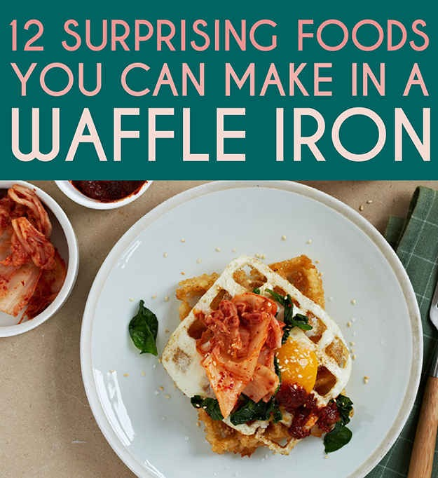 12 Surprising Foods You Can Make In A Waffle Iron Trusper