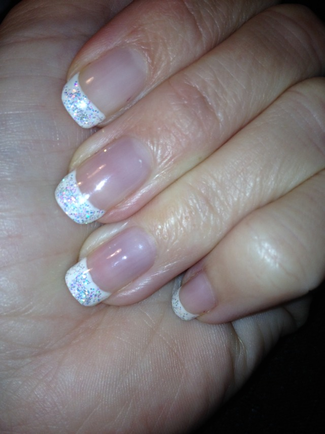 Shellac French Manicure Nail Art French Shellac Manicure With