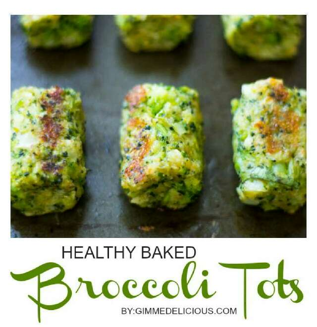 Healthy Baked Broccoli Tots!