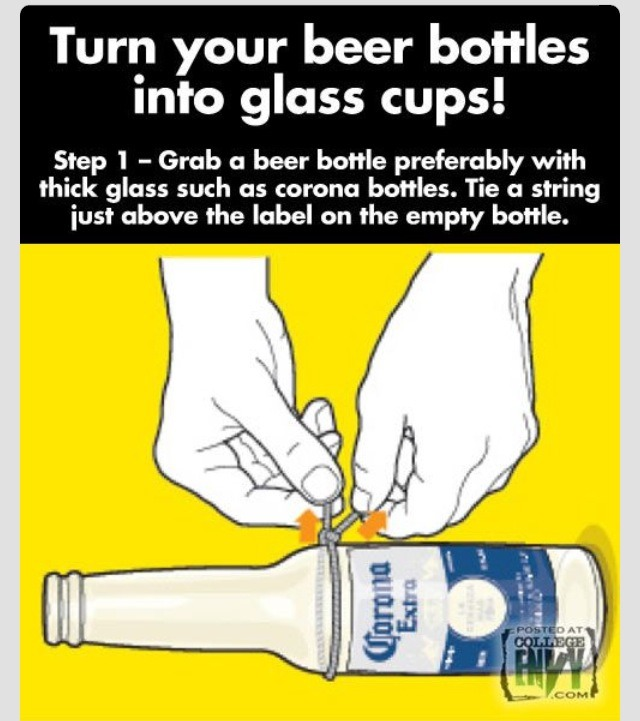 💞 Recycle Beer Bottles Into Beautiful Glasses 💞