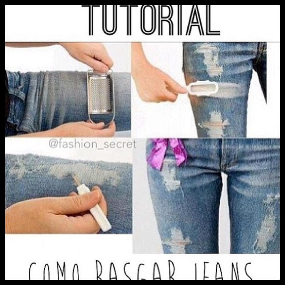 как в домашних условиях сделать рваные джинсы пошаговая инструкция