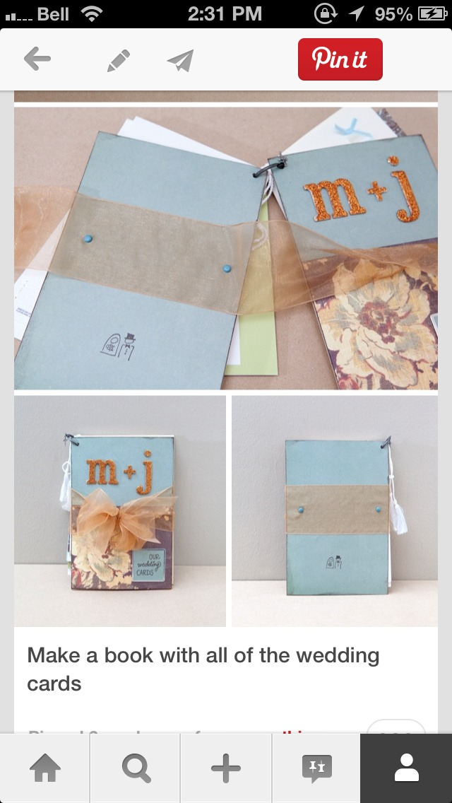 Making All Wedding Cards Into One Book