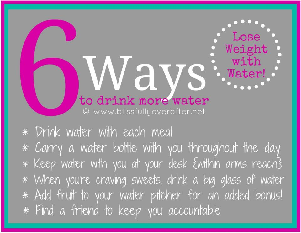 6 Ways To Drink More Water!
