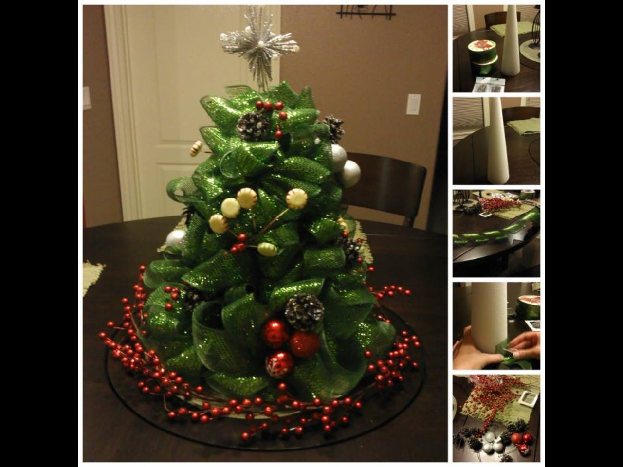 Cute christmas tree table decor trusper for Cute christmas decorations