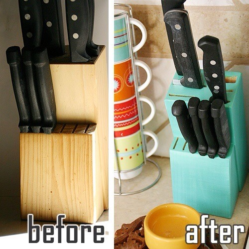 Painted Knife Block: Paint Your Knife Block
