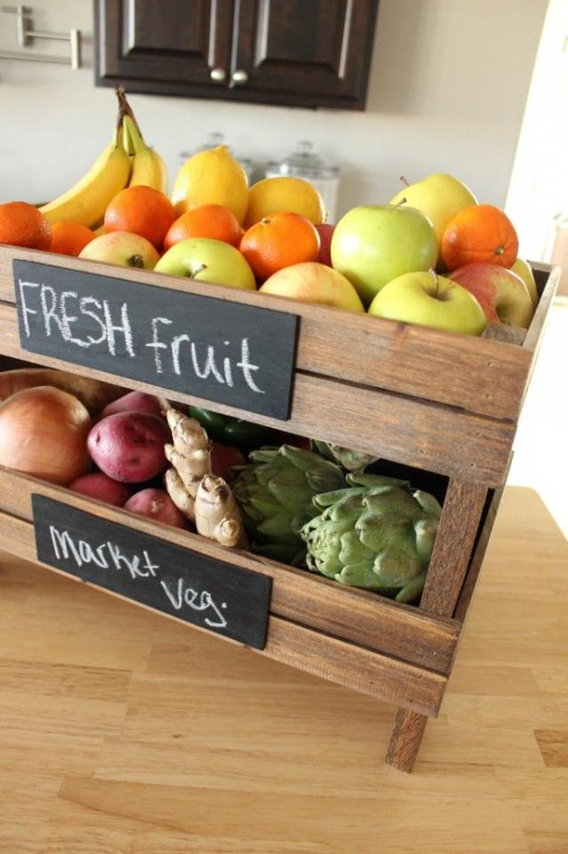 Great Idea For A Kitchen Fruit Stand Trusper