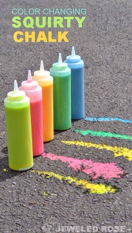 Diy Squirting Chalk!