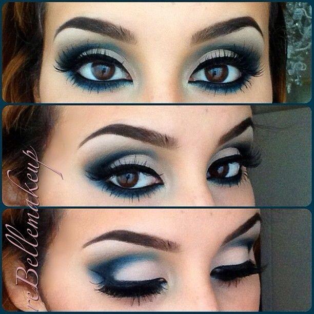 Ocean Wavy Blue Dramatic Eyeshadow