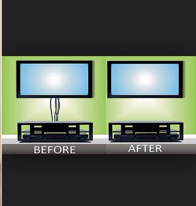 how to hide your tv cords trusper. Black Bedroom Furniture Sets. Home Design Ideas
