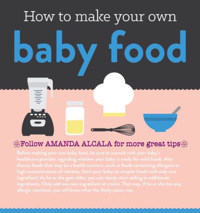 🌸 How To Make Your Own Baby Food! Recipes And Directions :D🌸 # Tipit