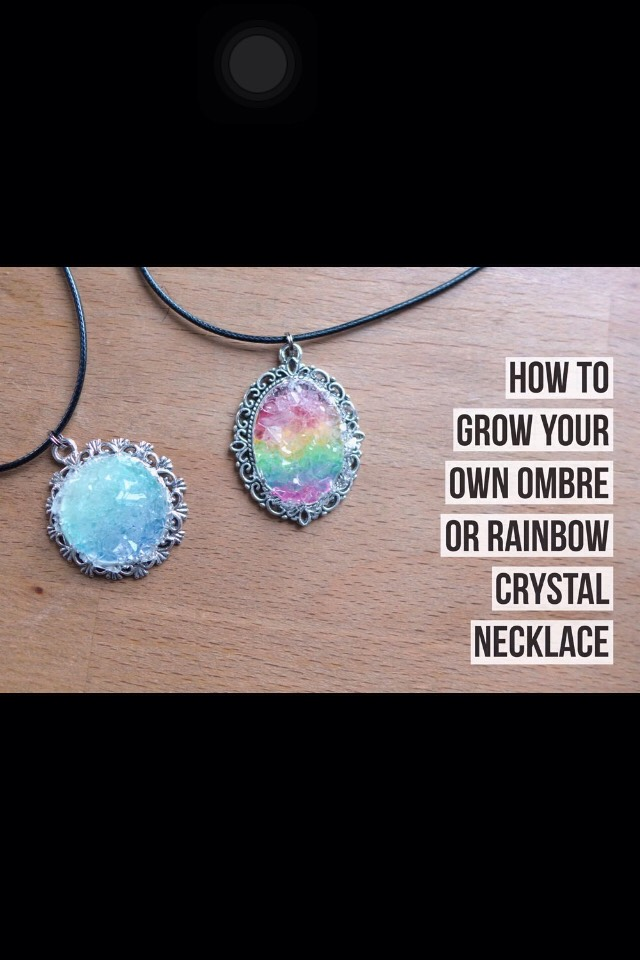 Diy Crystal Necklace😍💖 #tipit