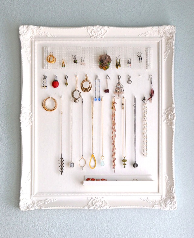 DIY Jewelry Frame Holder