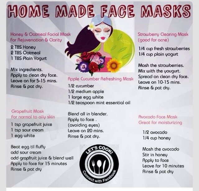 👍❤️Homemade Face Masks❤️👍