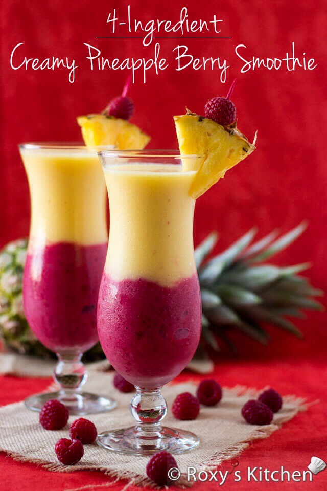 💥 Creamy Pineapple Berry Smoothie💥 Has Many Great Health Benefits!!!