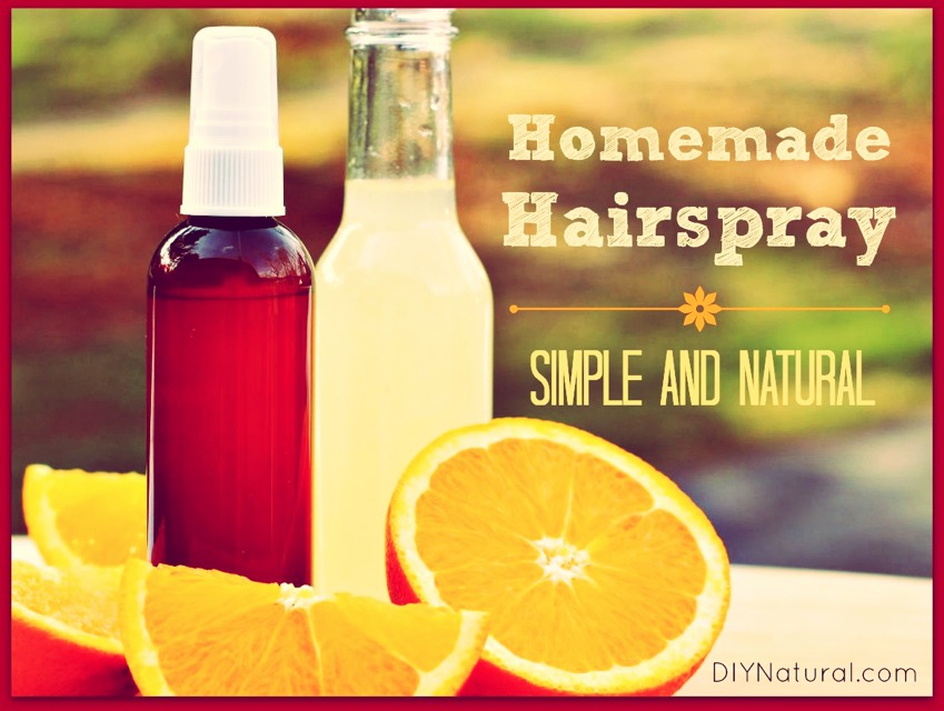 Home Made Natural Hair Spray!