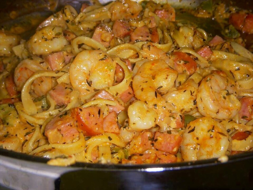 Shrimp Pasta In A Foil Package   Trusper
