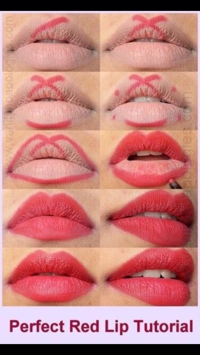 Как сделать губы красными без помады в домашних условиях