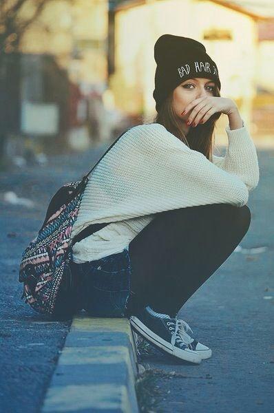 Winter Fall Skater Girl Style Trusper