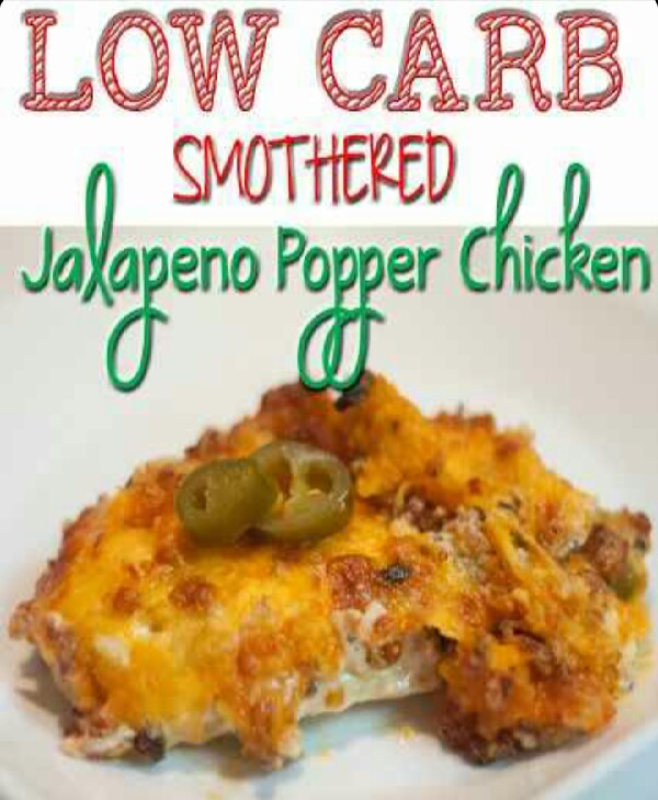 Low Carb Smothered Jalepeno Popper Chicken!!!