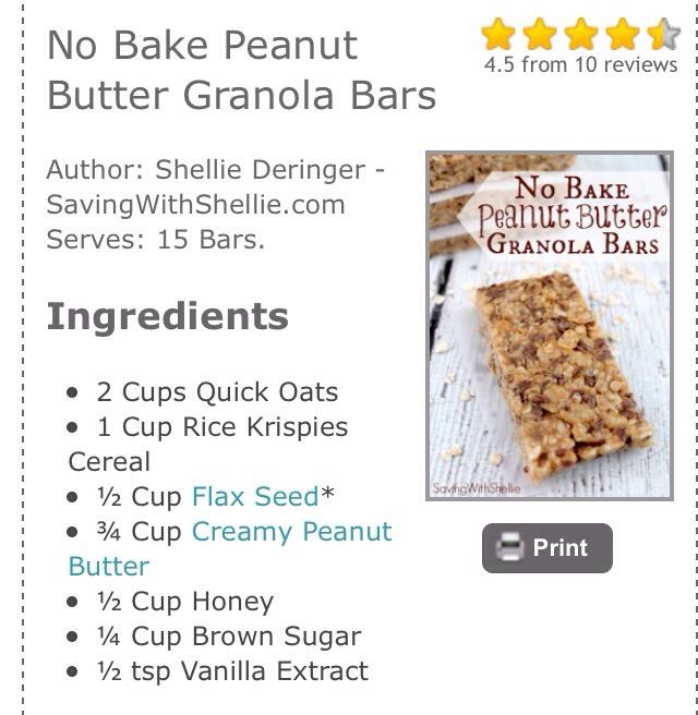 No Bake Peanut Butter Granola Bars!!😋 | Trusper