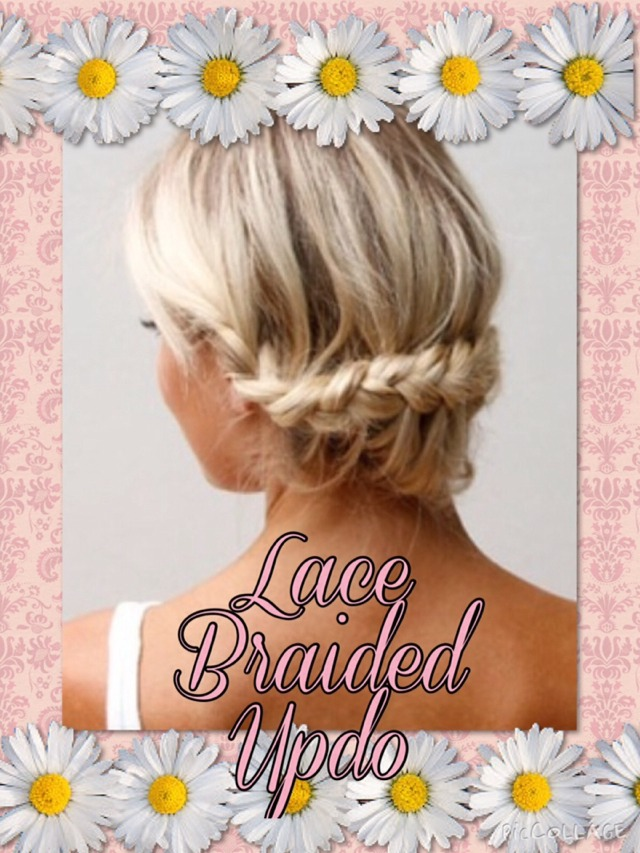 💖Lace Braided Updo - So Pretty & Super Easy Too!💖
